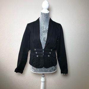 CAbi Black Military Style Blazer